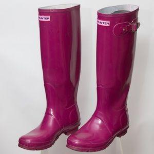 Hunter Original Tall Glossy Rain Boot Purple